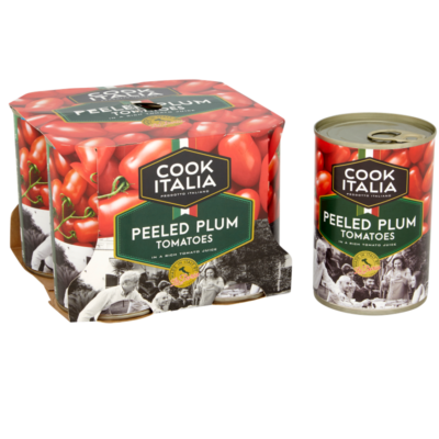 Cook Italia peeled whole plum tomatoes 4 pack
