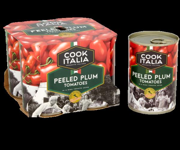 Cook Italia peeled whole plum tomatoes 4 pack